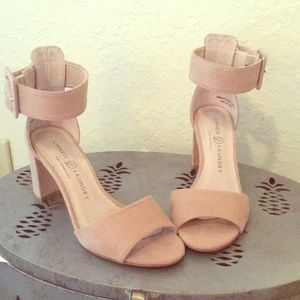 Strappy nude heels size 5 1/2